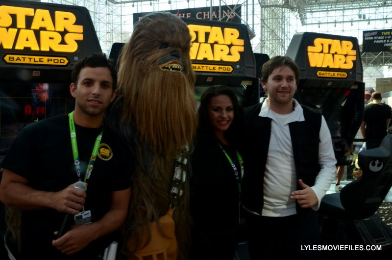 NYCC'15 - Han Solo and Chewbacca at Star Wars Battle Pod