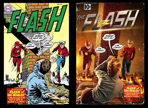 The Flash - Flash of Two Worlds - Flash cover homage