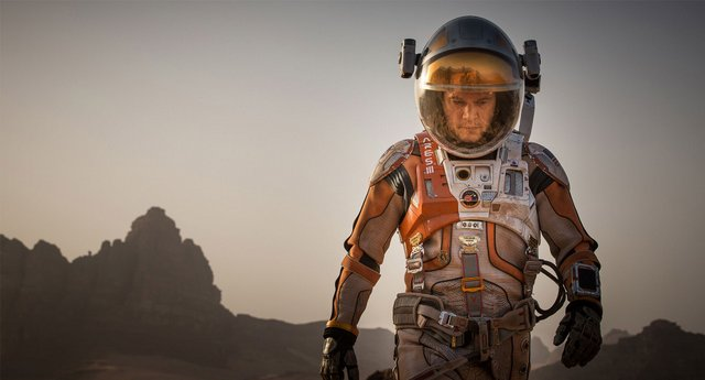 The Martian -Matt Damon as Mark Watney