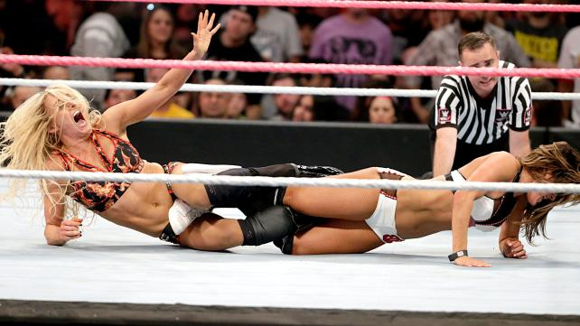WWE Hell in a Cell 2015 - Charlotte and Nikki Bella
