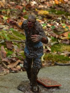 McFarlane Toys Walking Dead Mud Walker - walking on stand