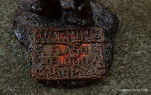 McFarlane Toys Walking Dead Mud Walker - warning sign