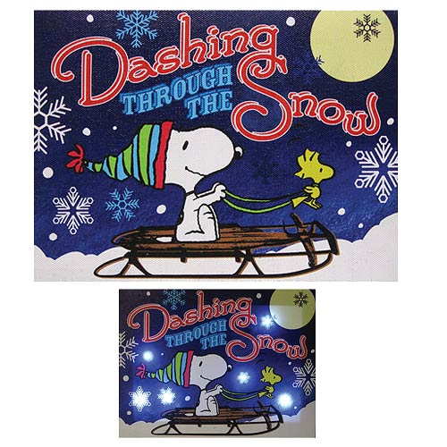 Peanuts Dashing through the Snow