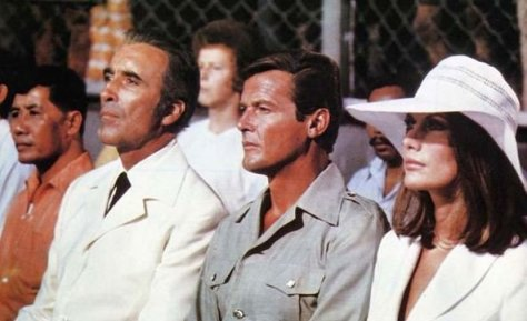 The Man With the Golden Gun - Christopher Lee, Roger Moore and Maud Adam
