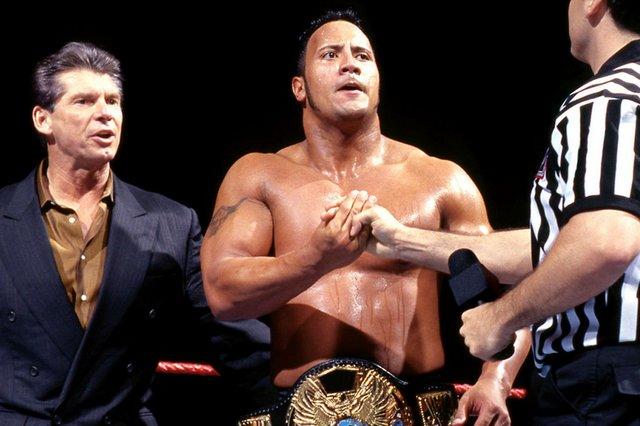 Vince McMahon, The Rock, Shane McMahon Survivor Series 98