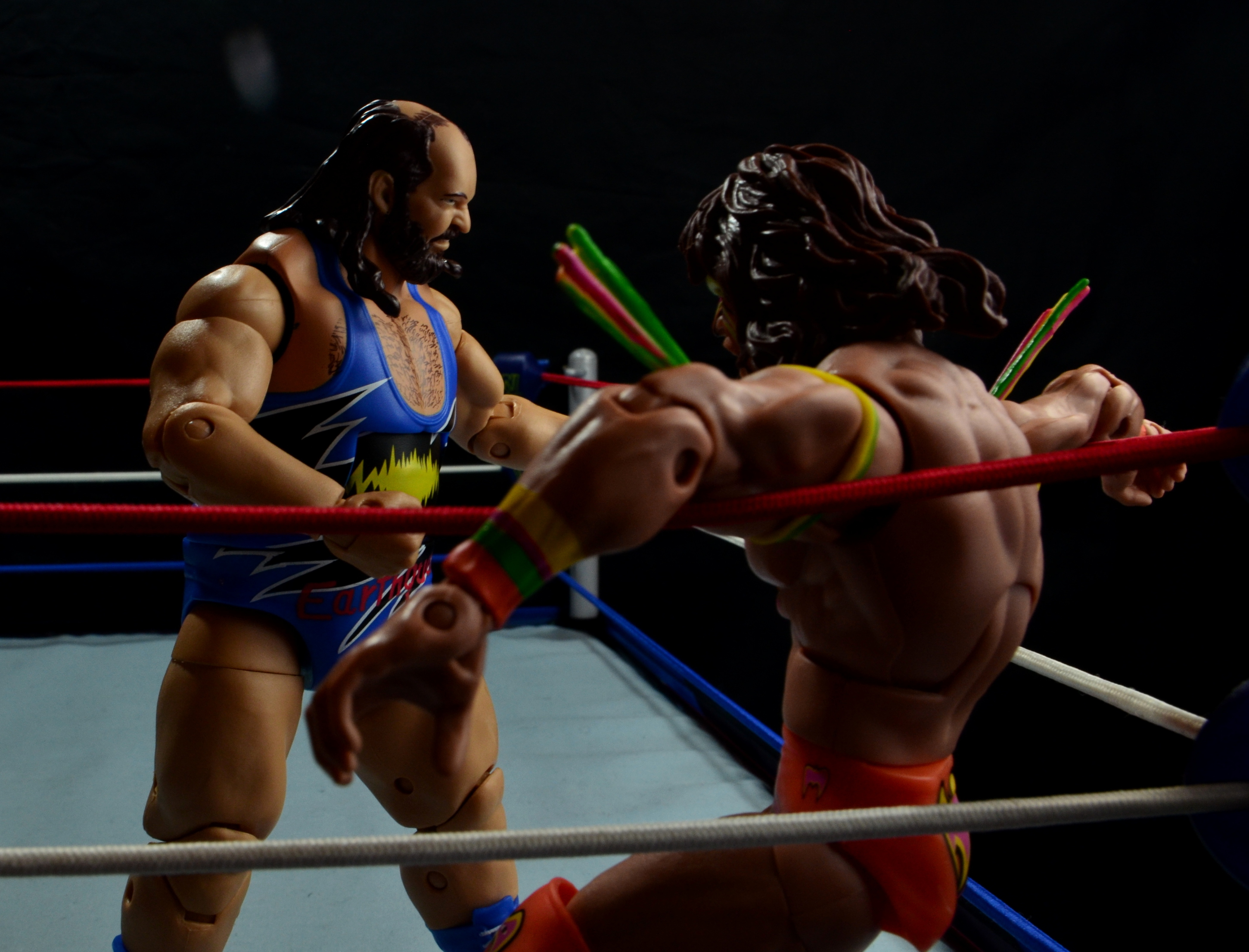 WWE Mattel Earthquake -beating down Ultimate Warrior