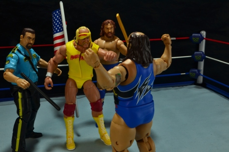 WWE Mattel Earthquake - facing off with Big Bossman, Hulk Hogan and Hacksaw Jim Duggan