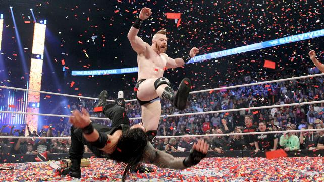 WWE Survivor Series 2015 - Sheamus cashes in on Reigns